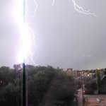 Lightning strikes.<br /><em>Submitted by Oliver Rupert</em>
