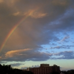 Evening rainbow.<br /><em>Submitted by LuAnn Lovlin</em>