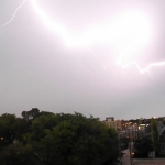 Lightning strike.<br /><em>Submitted by Oliver Rupert</em>