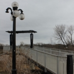 A decorative bridge on the waterfront.<br /><em>Submitted by Alyssa McDonald</em>