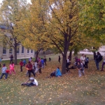 Kids playing in the autumn leaves.<br /><em>Submitted by LuAnn Lovlin</em>
