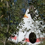 Tipi in the trees.<br /><em>Submitted by Holly Cain</em>