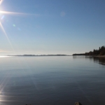 Autumn morning on south basin of Lake Winnipeg.<br /><em>Submitted by Noah Erenberg</em>