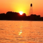 Sunset and water tower.<br /><em>Submitted by Dylan Licoppe</em>