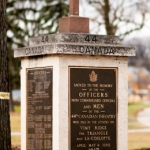 Winnipeg's Vimy Ridge Cenotaph with the original cross from Vimy Ridge.<br /><em>Submitted by Gregory McNeill</em>