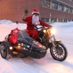 Santa rides to town.<br /><em>Submitted by M. LeBlanc</em>