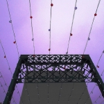 Lights over Forks footbridge.<br /><em>Submitted by Greg Petzold</em>