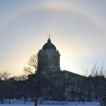 Golden Boy's sundog aura.<br /><em>Submitted by Doug Kretchmer</em>