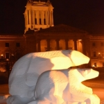 Polar bears on guard at Legislative Buildings.<br /><em>Submitted by Doug Kretchmer</em>