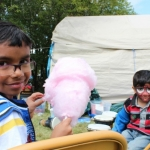 Sharing candy floss with Spiderman at Matlock Festival.<br /><em>Submitted by Noah Erenberg.</em>