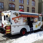 Harbinger of spring -- first food truck.<br /><em>Submitted by Greg Petzold</em>