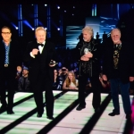 BTO (l-r) Blair Thornton, Robin Bachman, Randy Bachman and Fred Turner inducted into Canadian Music Hall of Fame.<br /><em>Submitted by Doug Kretchmer</em>