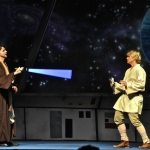 Pastor Mark Hughes as Only One Canoli and Derek Zeilstra as Luke Moonwalker in Rock Star Wars at Church of the Rock.<br /><em>Submitted by Doug Kretchmer</em>