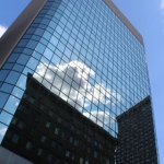 Downtown reflections.<br /><em>Submitted by Jenna Friesen.</em>