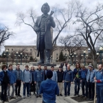 Riel Gentlemen's Choir with Louis, Jane's Walk<br /><em>Submitted by Greg Petzold</em>