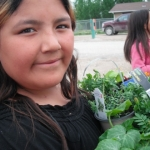 Gardening in Shamattawa.<br /><em>Submitted by Cheryl Cohan</em>