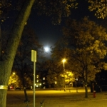 Downtown moonrise.<br /><em>Submitted by Oliver Rupert</em>